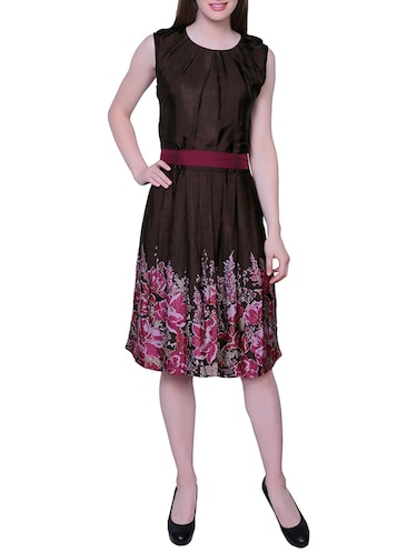 c3b46a2a0012 Buy Brown Crepe Dress by 18 To Eighty s - Online shopping for Dresses in  India