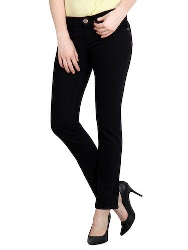 9113c0a446b Buy Black Denim Jeans by Fashion Cult - Online shopping for Jeans in India