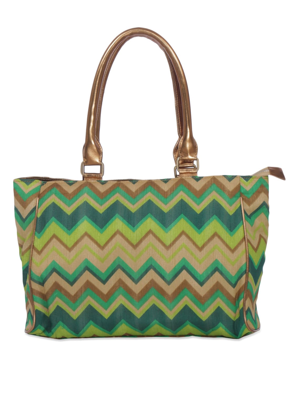 ... multicolored chevron cotton silk and faux leather handbag - 1329977 -  Zoom Image - 1 971cba0c206e9