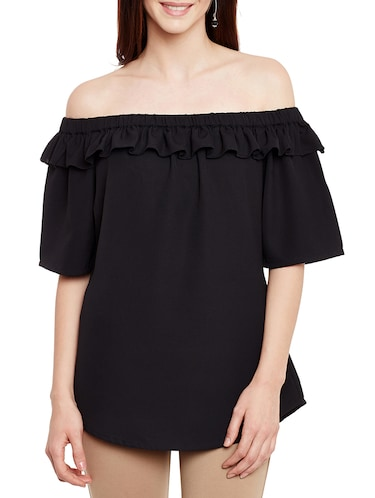 ruffled off shoulder top - 13331418 - Standard Image - 1