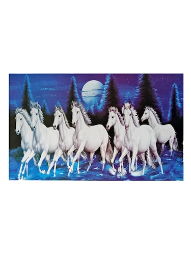 Buy Vastu Compliant 7 White Horse Painting By Decorx Online