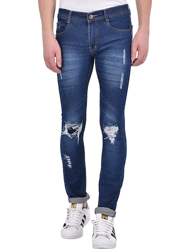 blue denim ripped jeans - 13386439 - Standard Image - 1