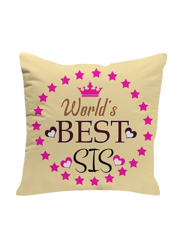 LOFWorlds Best Sis Sissy Sister Gifts For Birthday And Anniversary 12x12 Cushion With Filler