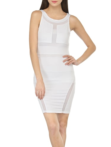 ceae5713fe9f Buy White Bodycon Dress by N-gal - Online shopping for Dresses in ...