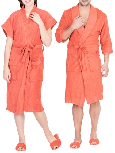 Buy Koyoka Bath Robe For Men And Women With Pair Of Slippers Combo ... baaceddfd