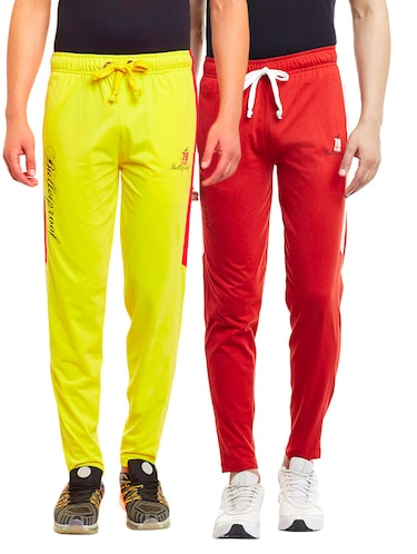 multi colored set of 2 cotton track pant - 13443046 - Standard Image - 1