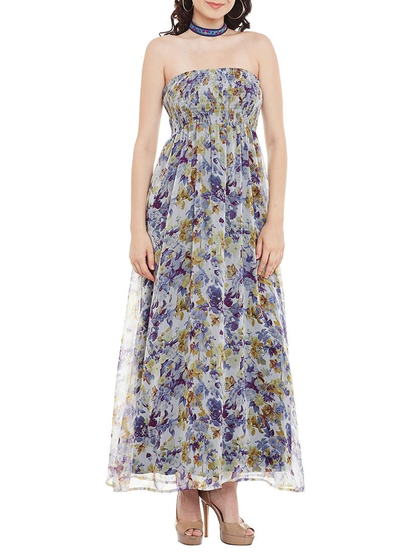 3e83e891d91 Buy Blue Chiffon Tube Maxi Dress for Women from The Vanca for ₹953 ...