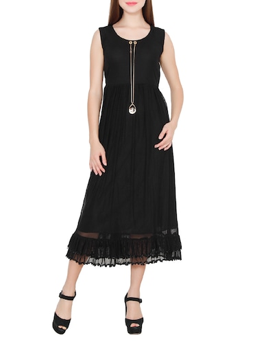 d1c0132bfaf2 Buy Black Net Midi Dress for Women from Numbrave for ₹723 at 10 ...