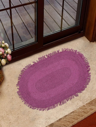 Pink Cotton Door Mat - 13580855 - Standard Image - 1