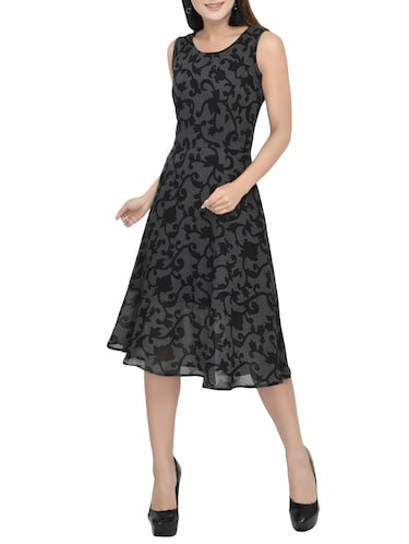 Buy Scroll Pattern A Line Dress By A K Fashion Online Shopping For