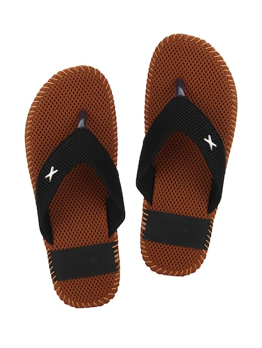 73a543b3c9ec Buy Brown Mesh Toe Separator Slippers for Men from Quarks for ₹493 ...