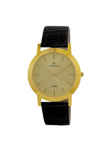 Maxima Gold Dial Analog Watch For MEN - 42101LMGY - 13847056 - Standard Image - 1