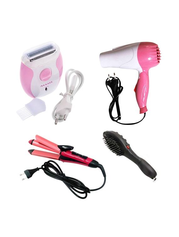 Buy Combo Of Nova 2 In 1 Hair Curler And Straightner
