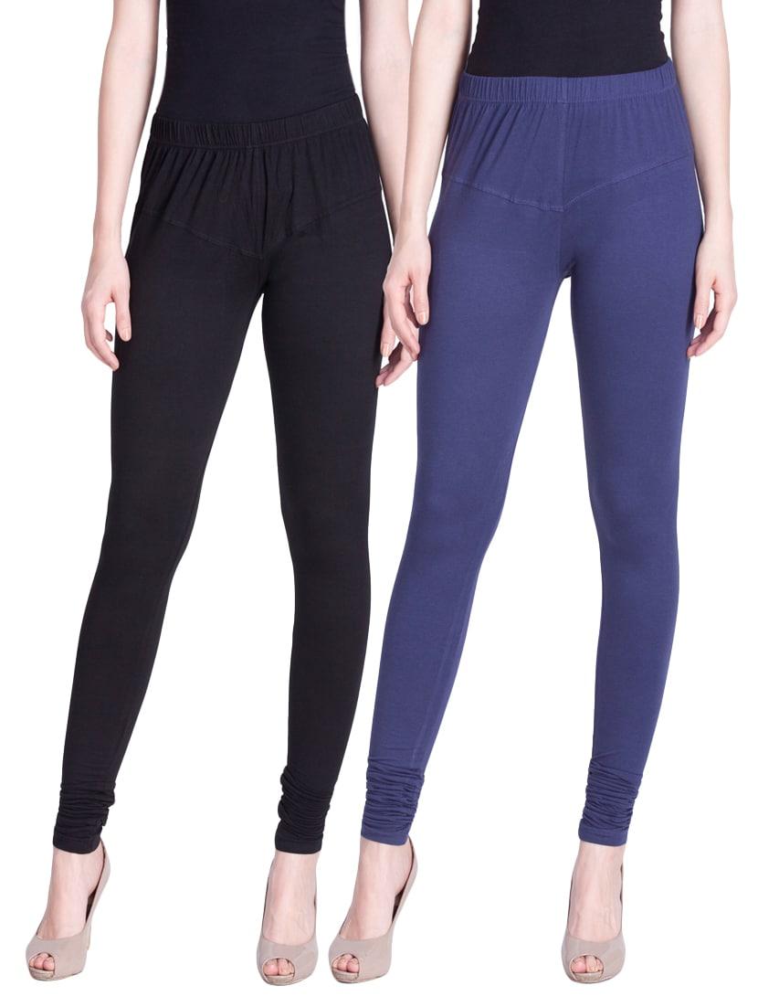3f7da8bba009da ... set of 2 multicolored cotton spandex leggings - 13934586 - Zoom Image -  1