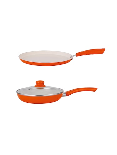 37b4284013c NIRLON Kitchenware Aluminium Non-stick Induction 2 Pieces cookware combo Set(Dosa  Tawa   Frying Pan)
