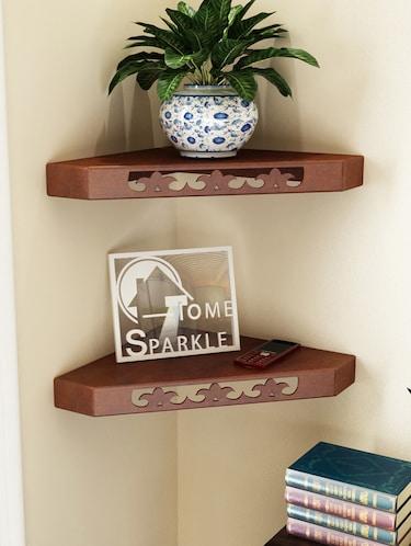 Corner Wall Shelf By Home Sparkle, Home Sparkle Furniture
