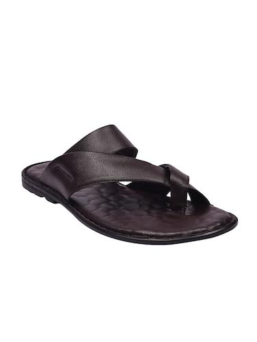 147868b82b1b9c Buy Brown Leatherette Slip On Slipper by Andrew Scott - Online ...
