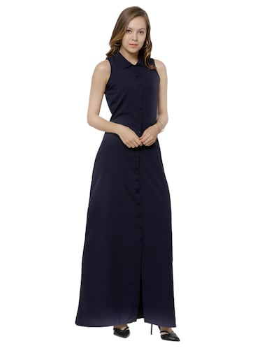 5d3453f113f Buy Navy Blue Maxi Dress by Tokyo Talkies - Online shopping for ...