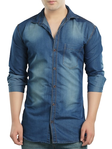 b1b44373c496 Buy Light Blue Denim Casual Shirt by Copper Line - Online shopping for  Casual Shirts in India   14121592