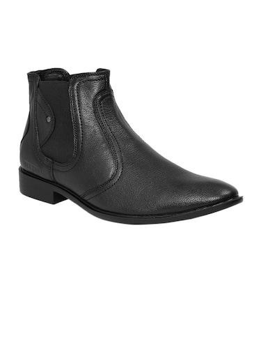black Leather slip on boots - 14131862 - Standard Image - 1