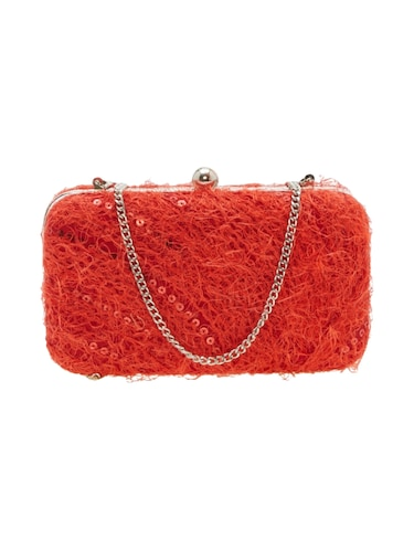 red leatherette  regular clutch - 14159531 - Standard Image - 1