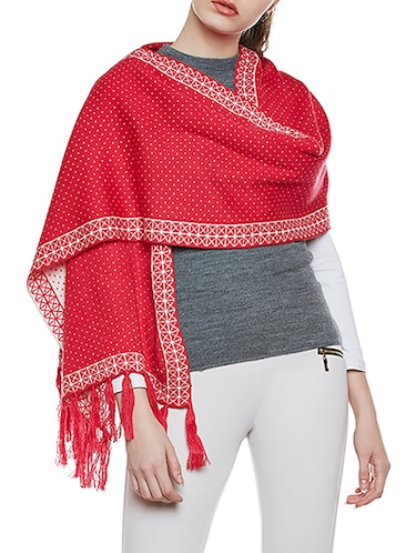 616278f68 Buy Pink Printed Woolen Stole by Cayman - Online shopping for Stoles ...