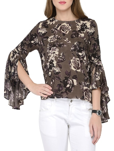 c8aaa4473204a8 Buy Brown Floral Print Cotton Top for Women from Envy Me Ny for ...