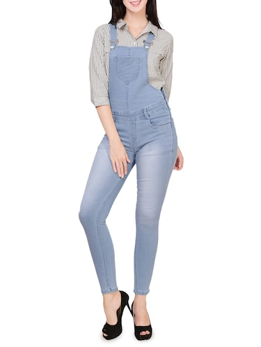 a10af1cae13 Buy Stone Washed Denim Dungaree for Women from Broadstar for ₹1223 at 51%  off