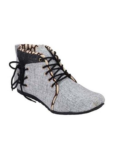 Buy online Grey Jute Low Ankle Boot