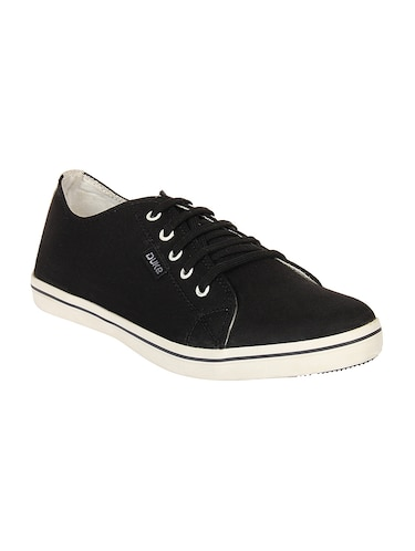 black Canvas lace up sneaker - 14292625 - Standard Image - 1