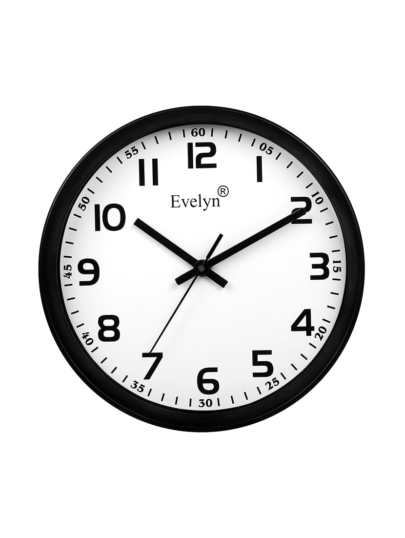 Buy Evelyn Round Design Wall Clock For Office Bed Room Lobby Kitchen