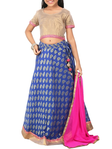 65200d50d7 blue silk blend lehnga choli - 14355088 - Standard Image ...