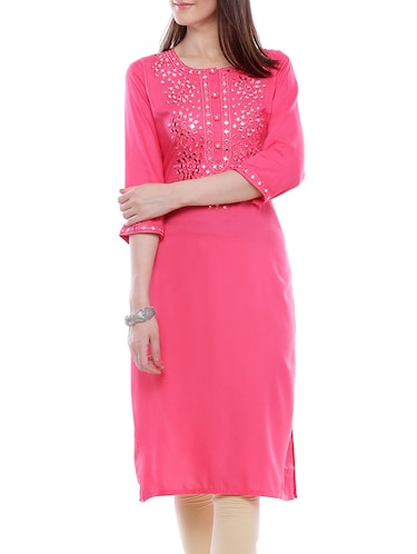 de535919fb1 Buy Straight Mirror Work Kurta for Women from Divena for ₹958 at 54% off