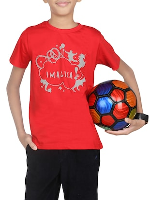 red cotton tshirt - 14387461 - Standard Image - 1