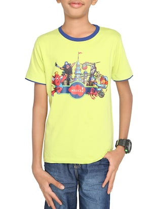 yellow cotton t-shirt - 14387487 - Standard Image - 1
