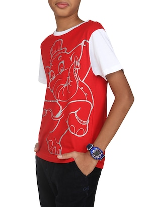red cotton tshirt - 14387497 - Standard Image - 1