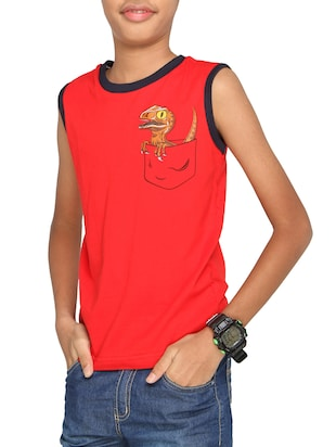 red cotton tshirt - 14387518 - Standard Image - 1