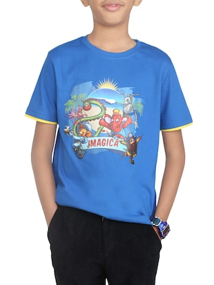 light blue cotton tshirt - 14387538 - Standard Image - 1