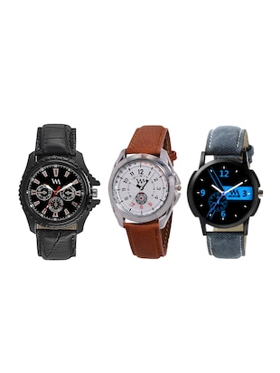 Watch Me Gift Combo Set of Analog Watches for Men and Boys WMC-004-AWC-009-AWC-001 - 14393750 - Standard Image - 1