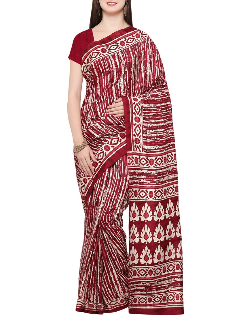 1cef98f3dfda1e ... Abstract tussar silk saree with blouse - 14398641 - Zoom Image - 1