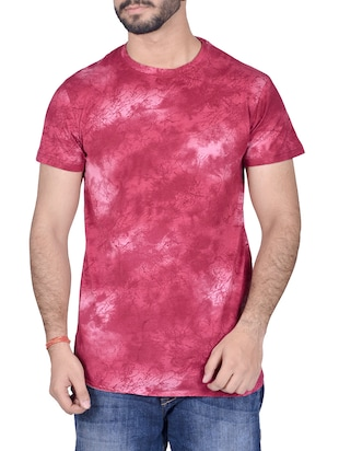 pink cotton all over print tshirt - 14404670 - Standard Image - 1