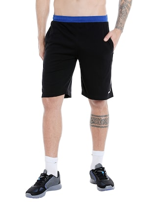 black cotton short - 14413630 - Standard Image - 1