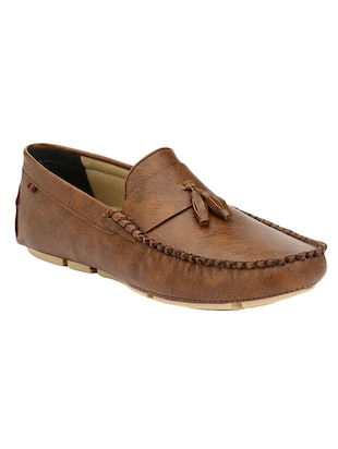 brown Leatherette slip on loafer - 14418098 - Standard Image - 1