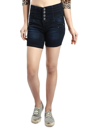 blue denim shorts - 14419351 - Standard Image - 1