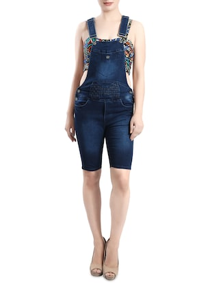 blue denim dungree - 14419478 - Standard Image - 1