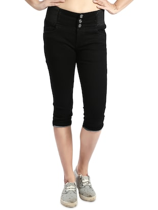 black denim capri - 14419592 - Standard Image - 1