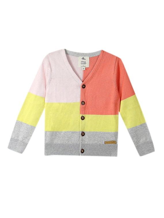 47ef5a0ebff8 Buy Multi Colored Acrylic Cardigan for Women from Cherry Crumble for ...