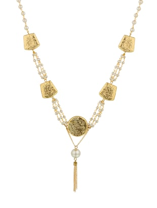 multi colored crystal long necklace - 14421510 - Standard Image - 1