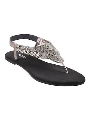 grey tpr back strap sandals - 14422465 - Standard Image - 1