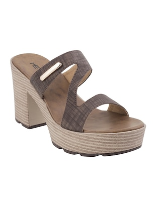 brown platforms sandal - 14422742 - Standard Image - 1